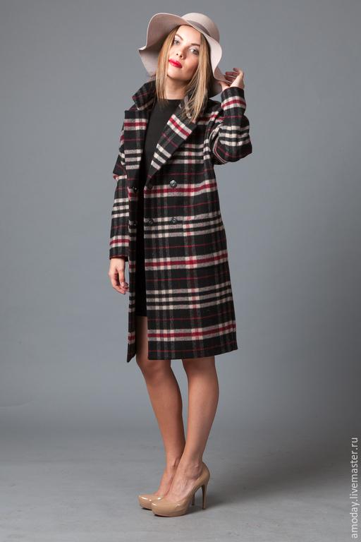 Пальто `Сама строгость` из шерсти от AMODAY