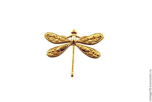 Для украшений ручной работы. Ярмарка Мастеров - ручная работа. Купить Винтажная фурнитура, латунный штамп бабочка H6.R. Handmade.
