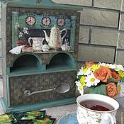 """Для дома и интерьера ручной работы. Ярмарка Мастеров - ручная работа Двойной чайный домик """"Встреча за чаем"""". Handmade."""