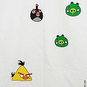 Для дома и интерьера ручной работы. Ярмарка Мастеров - ручная работа Штора в детскую Angry Birds. Handmade.