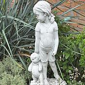 Для дома и интерьера handmade. Livemaster - original item Figurine Girl with a bear garden concrete sculpture Provence. Handmade.