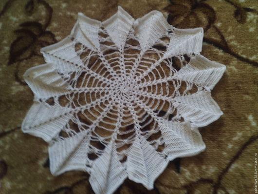 Текстиль, ковры ручной работы. Ярмарка Мастеров - ручная работа. Купить Салфетка ажурная. Handmade. Белый, Салфетка вязаная