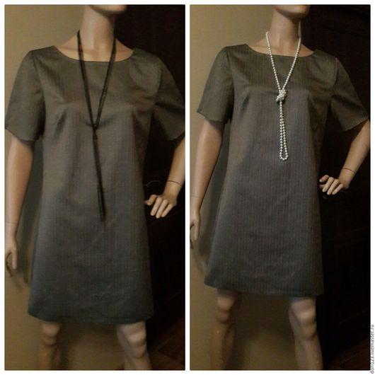 """Платья ручной работы. Ярмарка Мастеров - ручная работа. Купить Платье """"классика"""". Handmade. Серый, классический стиль, платье для осени"""