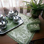 """Для дома и интерьера ручной работы. Ярмарка Мастеров - ручная работа Комплект салфеток """"Зеленый чай"""". Handmade."""