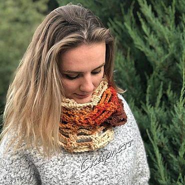 Аксессуары ручной работы. Ярмарка Мастеров - ручная работа Снуды: Вязаный снуд в два оборота, снуд, шарф на зиму. Handmade.