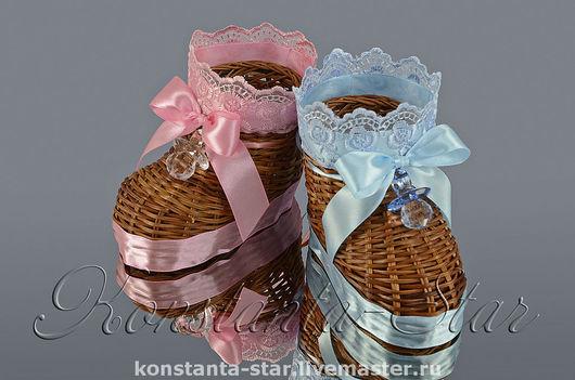 ботиночки  с пустушками ( розовый и голубой) 599 руб за пару