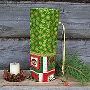 Подарки к праздникам ручной работы. Ярмарка Мастеров - ручная работа Мешочек новогодний для алкогольных напитков, новогодняя упаковка. Handmade.