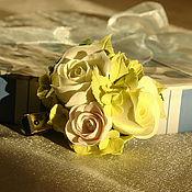 """Украшения ручной работы. Ярмарка Мастеров - ручная работа Заколка из полимерной глины """"розы"""". Handmade."""