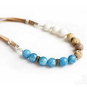 Украшения handmade. Livemaster - original item Beads with coral and jasper