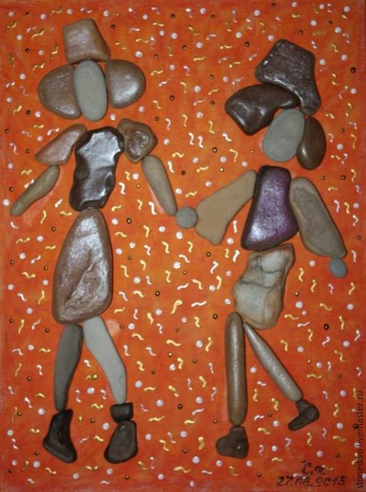 """Люди, ручной работы. Ярмарка Мастеров - ручная работа. Купить Картина из серии Подиум """"Платья из шифона"""". Handmade. Рыжий"""