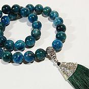 Фен-шуй и эзотерика handmade. Livemaster - original item Rosary 33 grains of Apatite natural stone.. Handmade.