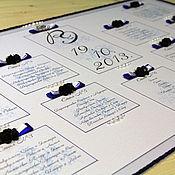 Свадебный салон ручной работы. Ярмарка Мастеров - ручная работа План рассадки гостей (арт. 0002). Handmade.