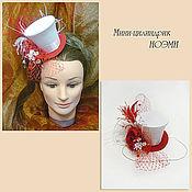 Свадебный салон ручной работы. Ярмарка Мастеров - ручная работа Свадебная шляпка мини-цилиндр. Handmade.