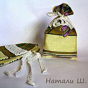 Сувениры и подарки ручной работы. Ярмарка Мастеров - ручная работа Мешочки для саше комплект из 3шт. хлопковые. Handmade.