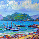 Painting with the sea 'Phuket. The Panwa beach in the Rainy Season' oil on canvas. Pictures. Multicolor Gallery. Online shopping on My Livemaster.  Фото №2