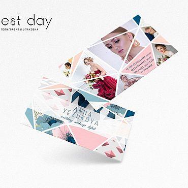 Дизайн и реклама ручной работы. Ярмарка Мастеров - ручная работа Макет двусторонней визитки на заказ. Handmade.