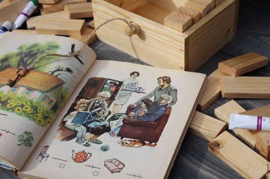 Развивающие игрушки ручной работы. Ярмарка Мастеров - ручная работа. Купить Коробочка с брусочками.. Handmade. Коробочка, игрушка ручной работы