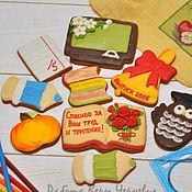 """Сувениры и подарки ручной работы. Ярмарка Мастеров - ручная работа """"Большой набор учителю"""" - пряничный набор пряников на выпускной. Handmade."""