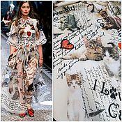 Материалы для творчества ручной работы. Ярмарка Мастеров - ручная работа НОВИНКА от Dolce & Gabbana 3 цвета сатин стрейч хлопок ткань Италии. Handmade.
