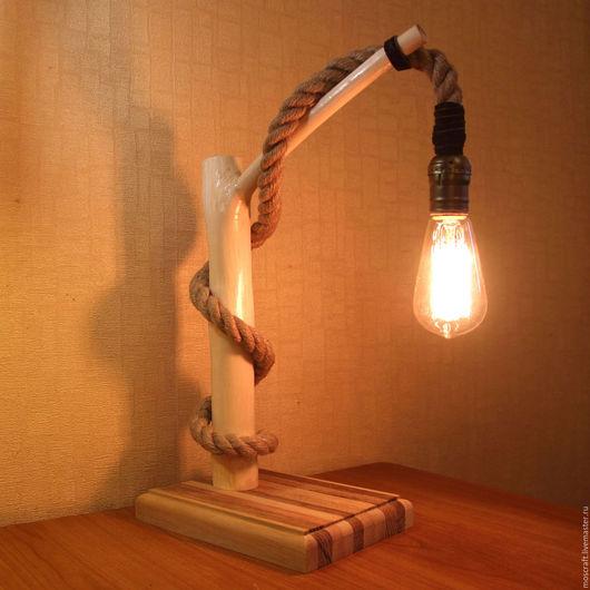 Освещение ручной работы. Ярмарка Мастеров - ручная работа. Купить Светильник из ветки в стиле лофт. Handmade. Светильник, деревянный светильник