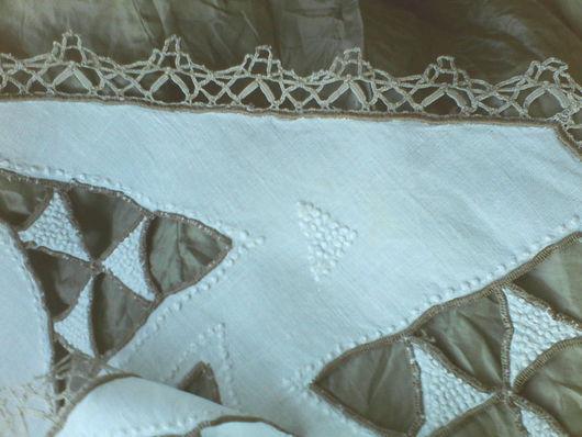 Винтажные предметы интерьера. Ярмарка Мастеров - ручная работа. Купить Старинная дорожка, с бобинным кружевом и ручной вышивкой! Винтаж!. Handmade.