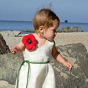 Работы для детей, ручной работы. Ярмарка Мастеров - ручная работа Валяное платье Маленькое белое платье. Handmade.