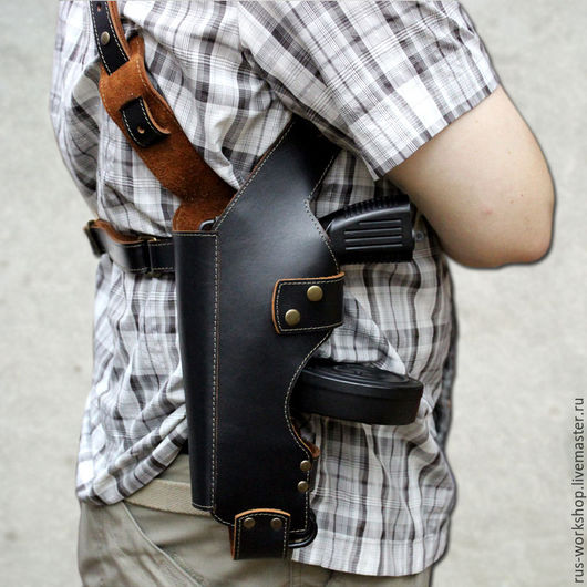 Мужские сумки ручной работы. Ярмарка Мастеров - ручная работа. Купить Кобура под автоматический пистолет Scorpion vz.61. Handmade.