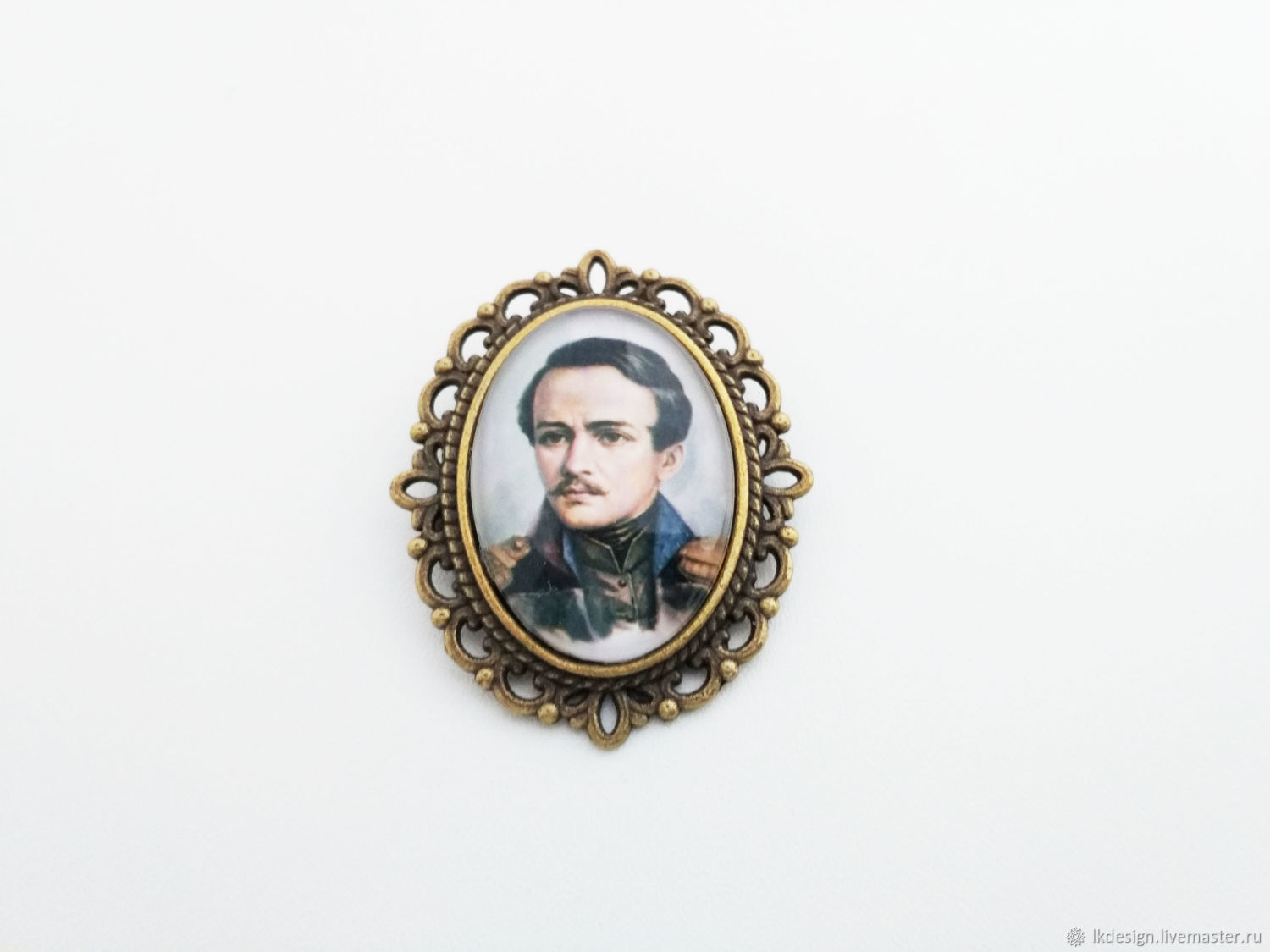 Brooch Lermontov, Brooches, Moscow,  Фото №1