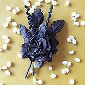 """Украшения ручной работы. Ярмарка Мастеров - ручная работа Авторская брошь """"Шоколадная жемчужина"""". Handmade."""