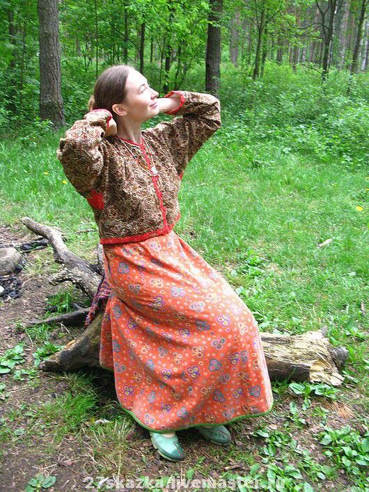 Одежда ручной работы. Ярмарка Мастеров - ручная работа. Купить кабатуха. Handmade. Хлопок