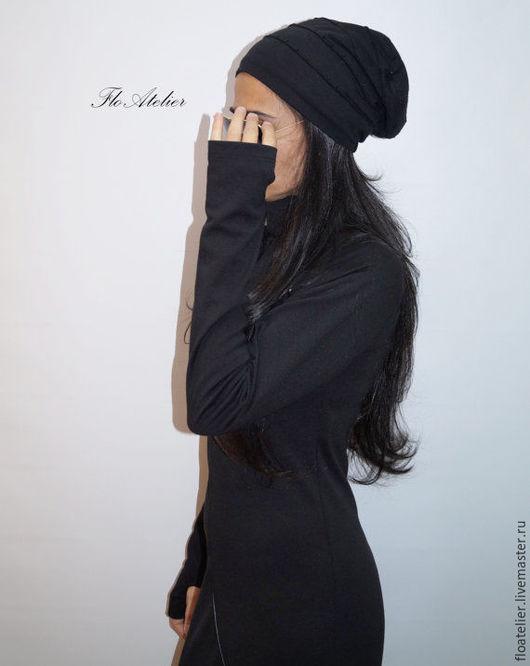 Шарфы и шарфики ручной работы. Ярмарка Мастеров - ручная работа. Купить Черная шляпа/Модная шaпка/F1335. Handmade. Черный, Аксессуары handmade