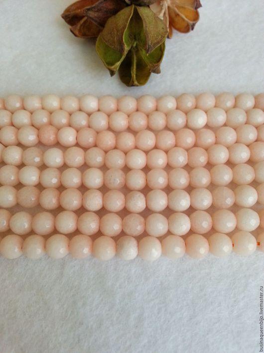 Для украшений ручной работы. Ярмарка Мастеров - ручная работа. Купить 6мм Агат светло-персиковый граненый. Handmade. Бежевый