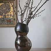 Для дома и интерьера handmade. Livemaster - original item Vase dark gold. Handmade.
