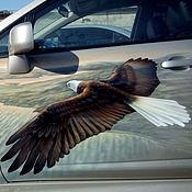 """Дизайн и реклама ручной работы. Ярмарка Мастеров - ручная работа Аэрография на автомобиле """"Орел"""".. Handmade."""
