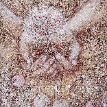 Картины и панно ручной работы. Ярмарка Мастеров - ручная работа Яблочки. Handmade.