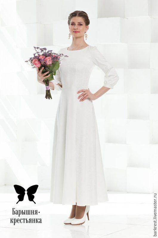 """Платья ручной работы. Ярмарка Мастеров - ручная работа. Купить Платье для Венчания """"Ренессанс"""". Handmade. Белое платье, православный наряд"""