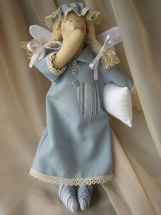 Куклы Тильды ручной работы. Ярмарка Мастеров - ручная работа. Купить Сплюшка Нюшка. Handmade. Сплюшка, хлопок, шерстяная пряжа