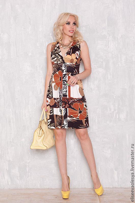 Платья ручной работы. Ярмарка Мастеров - ручная работа. Купить Сарафан из вискозного трикотажа 26017. Handmade. Платье для полных