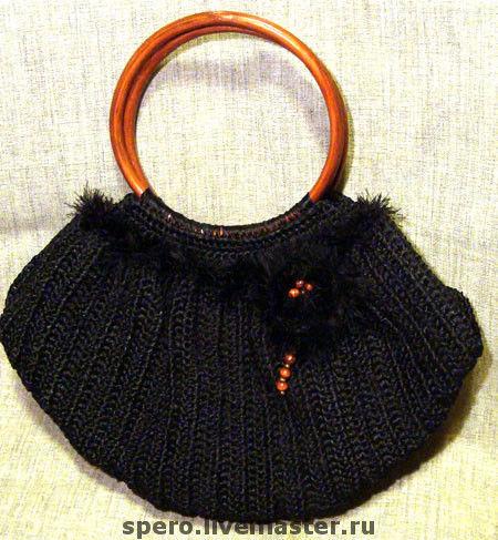 """Женские сумки ручной работы. Ярмарка Мастеров - ручная работа. Купить сумка """"Noir"""". Handmade. Сумка, пряжа травка"""