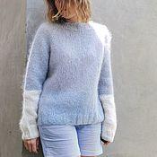Одежда handmade. Livemaster - original item Soft blue mohair sweater. Handmade.