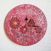 Для дома и интерьера handmade. Livemaster - original item Wall clock crimson color, handmade watches. Handmade.