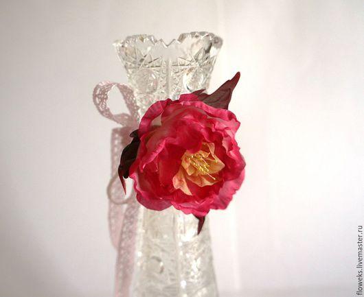 """Цветы ручной работы. Ярмарка Мастеров - ручная работа. Купить Цветы из шелка. Бархотка браслет """"Пламень"""". Роза ручной работы.. Handmade."""