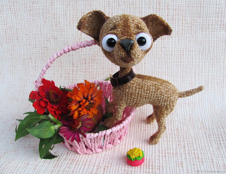 Собака чихуахуа, вязаная интерьерная игрушка лучший подарок, Мягкие игрушки, Майкоп,  Фото №1