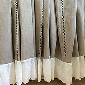 Для дома и интерьера handmade. Livemaster - original item Linen tablecloth with cotton lace