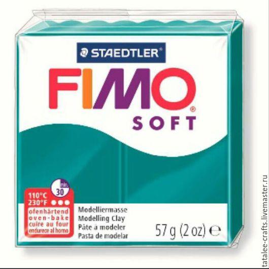 Для украшений ручной работы. Ярмарка Мастеров - ручная работа. Купить Темная бирюза (36) - Fimo Soft. Handmade. Телесный