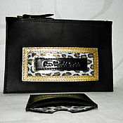 Сумки и аксессуары handmade. Livemaster - original item Purse large ,holder for documents genuine leather Wild. Handmade.