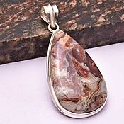 Украшения handmade. Livemaster - original item Beautiful pendant and earrings with Mexican agate Laguna in silver. Handmade.