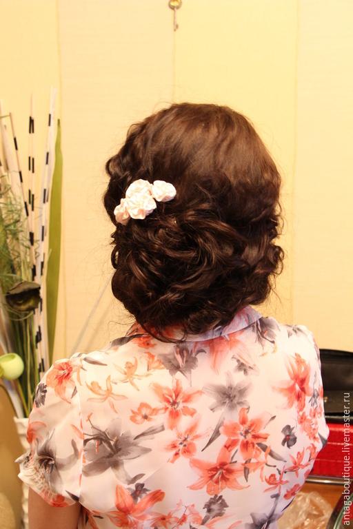 """Свадебные украшения ручной работы. Ярмарка Мастеров - ручная работа. Купить Свадебные шпильки для волос """"Нежный зефир"""" (розовые). Handmade."""