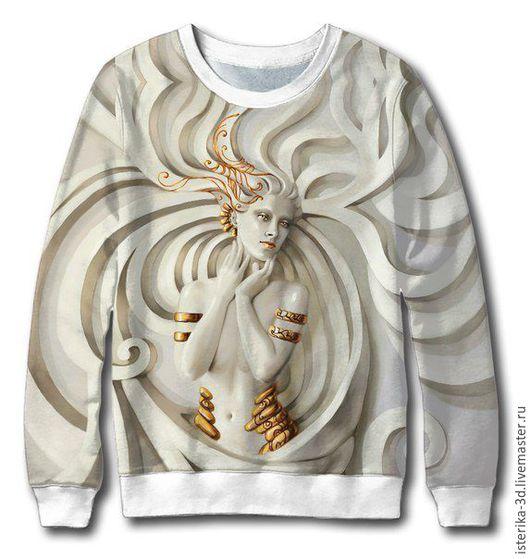 """Кофты и свитера ручной работы. Ярмарка Мастеров - ручная работа. Купить Кофта с принтом """"Богиня"""" - лучший подарок для девушки. Handmade."""