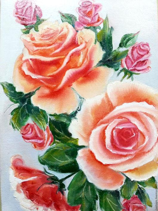 Картины цветов ручной работы. Ярмарка Мастеров - ручная работа. Купить Картина маслом